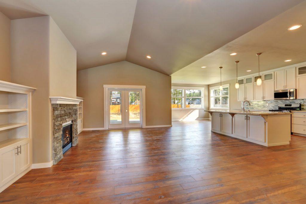 open concept home renovation